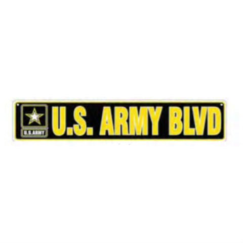 Army Blvd Metal Street Sign