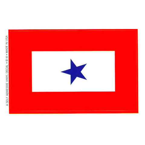 Blue Star Service Ribbon Decal