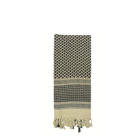 Shemagh Tactical Desert Scarf Tan / Black