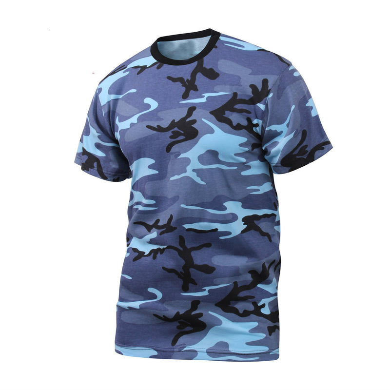 Sky Blue Camouflage T-Shirt - Indy Army Navy