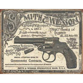 Smith & Wesson 1892 Government Contracts Tin Sign - Indy Army Navy