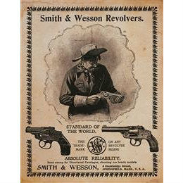 Smith & Wesson Revolvers Standard of World Tin Sign