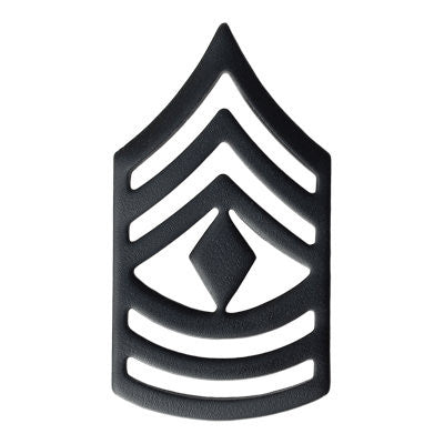 Army First Sergeant (E-8) Rank Black (Pair)