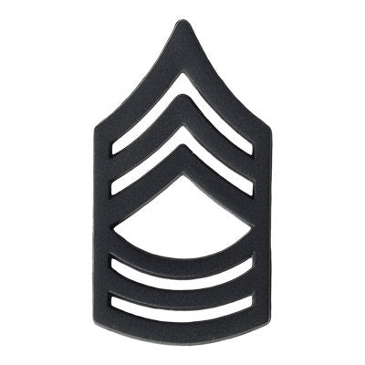 Army Master Sergeant (E-8) Rank Black (Pair)