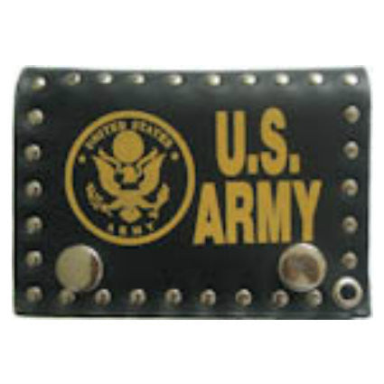 US Army Leather Tri Fold Wallet
