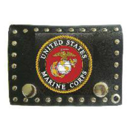 US Marines Leather Tri Fold Wallet