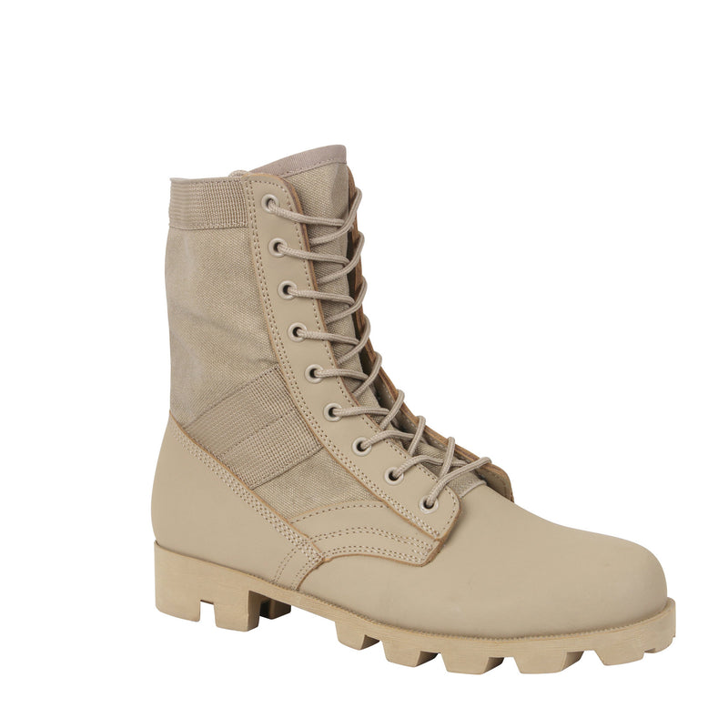Tan GI Style Jungle Boots 8""