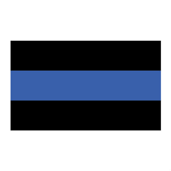 Thin Blue Line Flag Black 3' x 5'