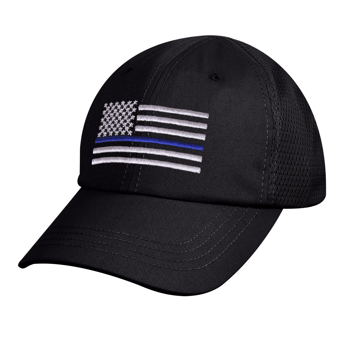 Thin Blue Line Mesh Hat Black