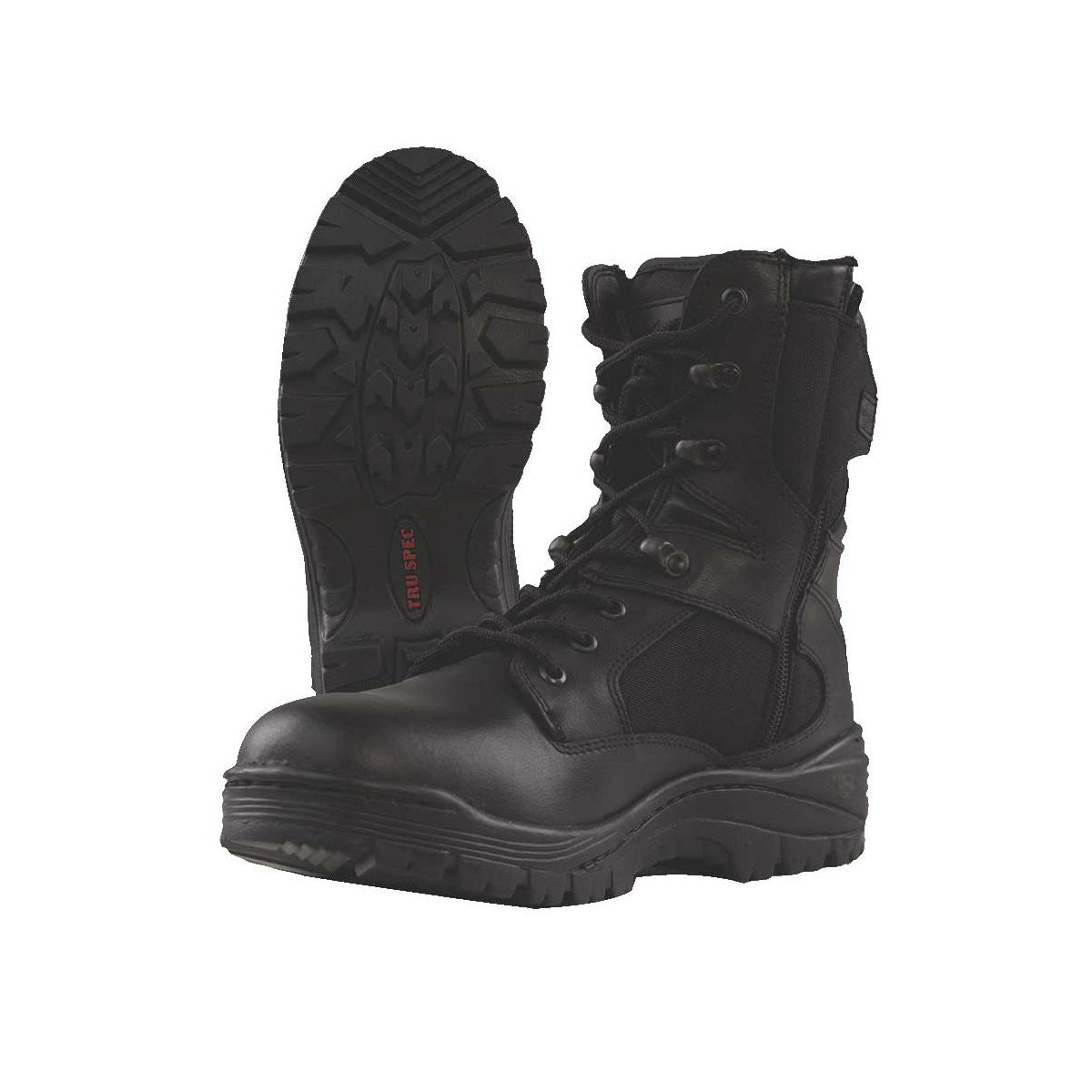 "Tru-Spec Tac Assault 9"" Side Zip Boots Black - Indy Army Navy"