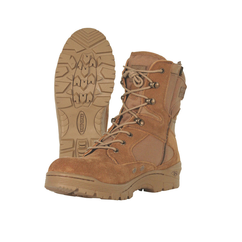 "Tru-Spec Tac Assault 9"" Side Zip Boots Coyote - Indy Army Navy"