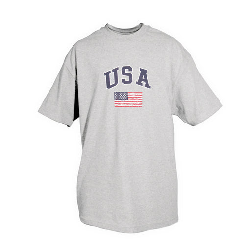 USA Flag T-Shirt Grey