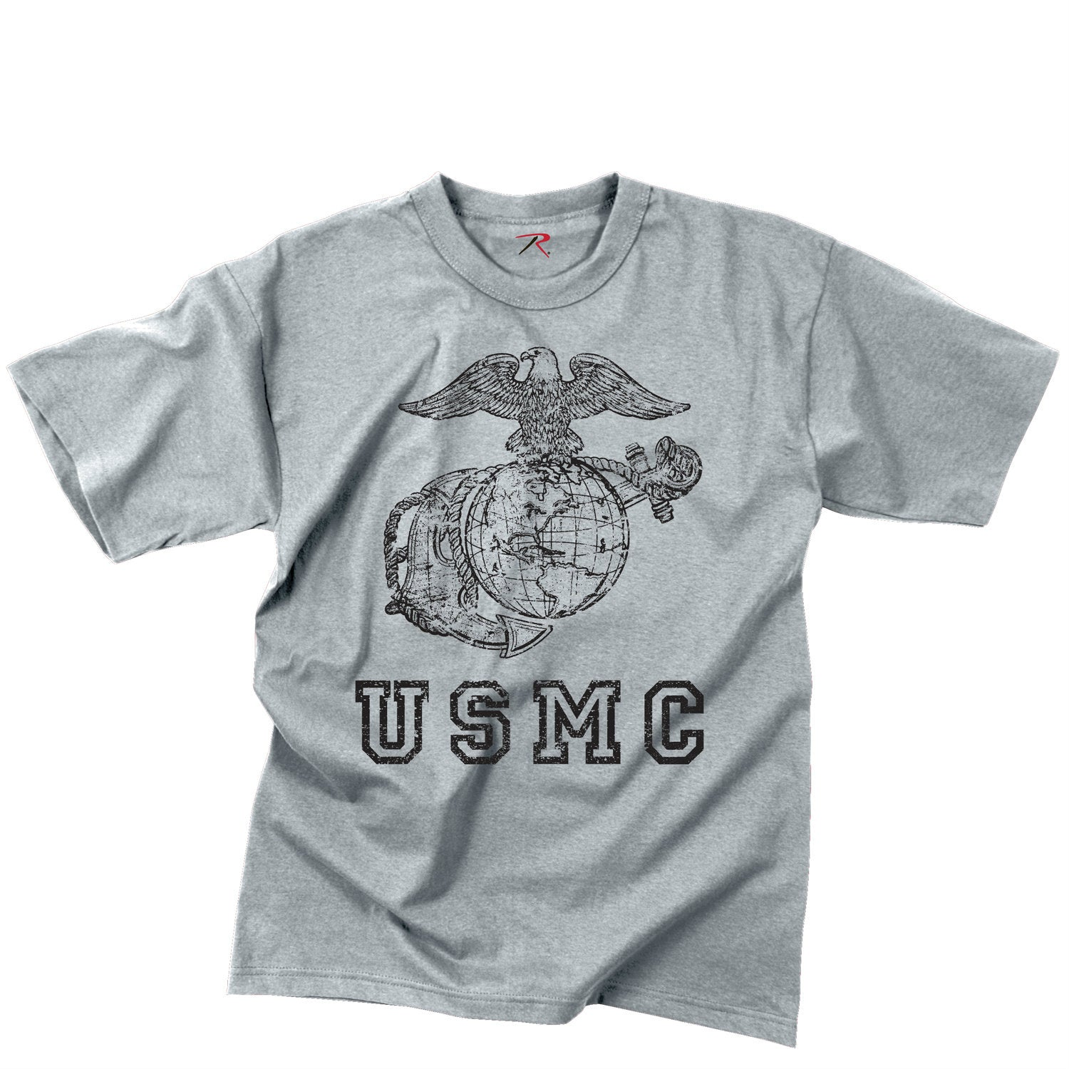 USMC Globe & Anchor T-Shirt Grey
