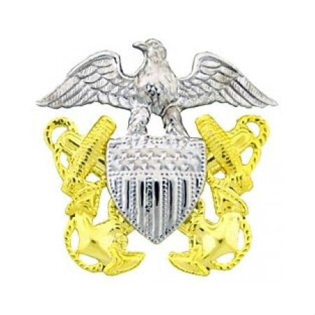 USN Garrison Cap Badge