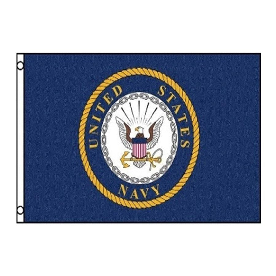 US Navy Circle Logo Flag Navy 3' x 5'