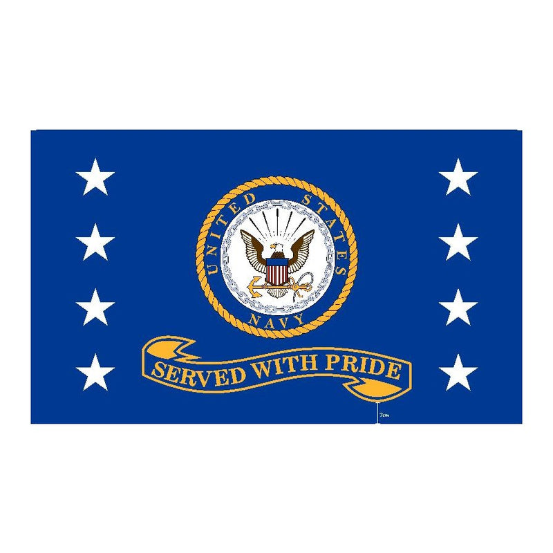 US Navy Served With Pride Flag 3' x 5'