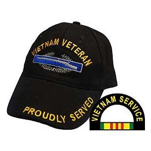 Vietnam Veteran CIB (Combat Infantry Badge) Hat Black
