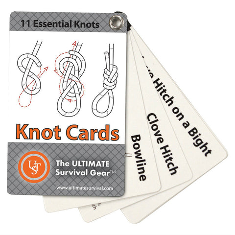 Ultimate Survival Learn and Live Knot Cards - Indy Army Navy