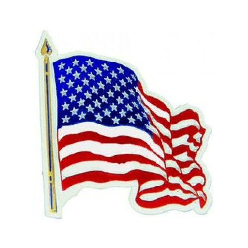 Wavy US Flag Magnet - Indy Army Navy
