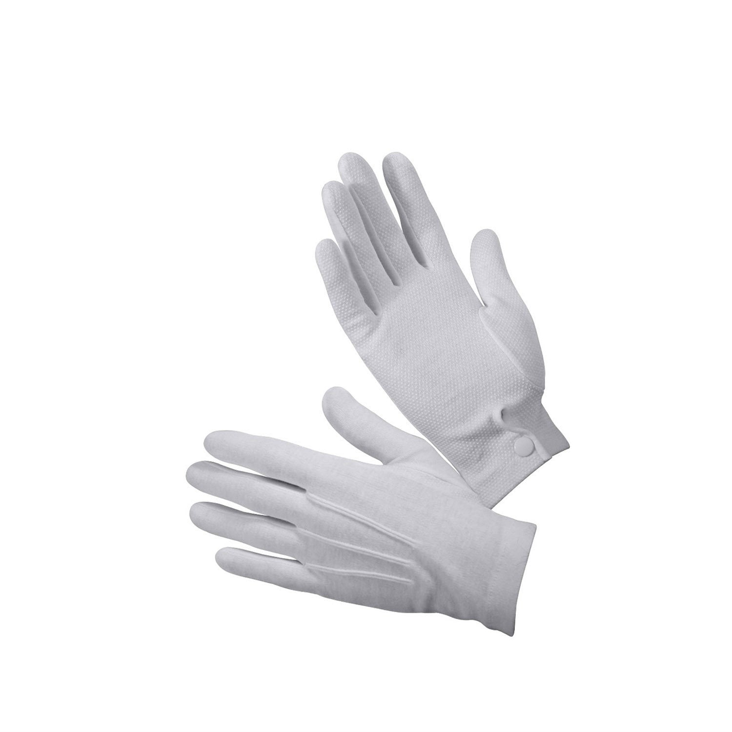 White Gripper Dot Parade Gloves - Indy Army Navy