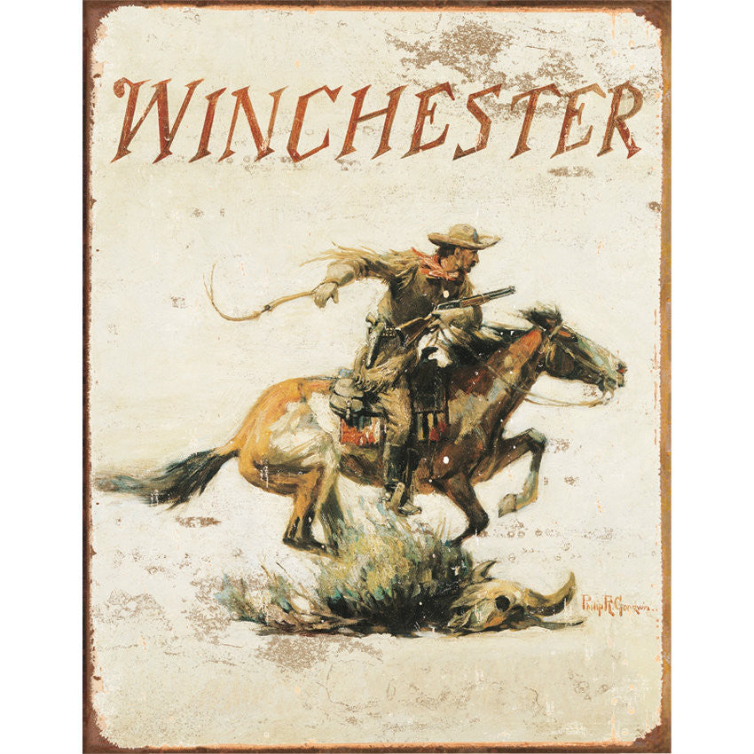 Winchester Logo Tin Sign - Indy Army Navy