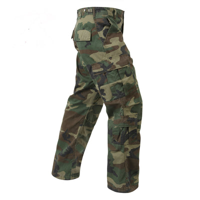 Vintage Paratrooper Fatigue Pants Woodland Camouflage