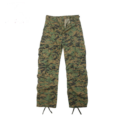 Vintage Paratrooper Fatigue Pants Woodland Digital Camouflage