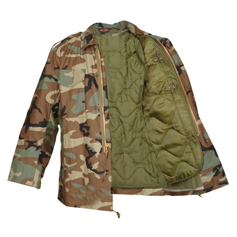 M-65 Field Coat With Liner Woodland