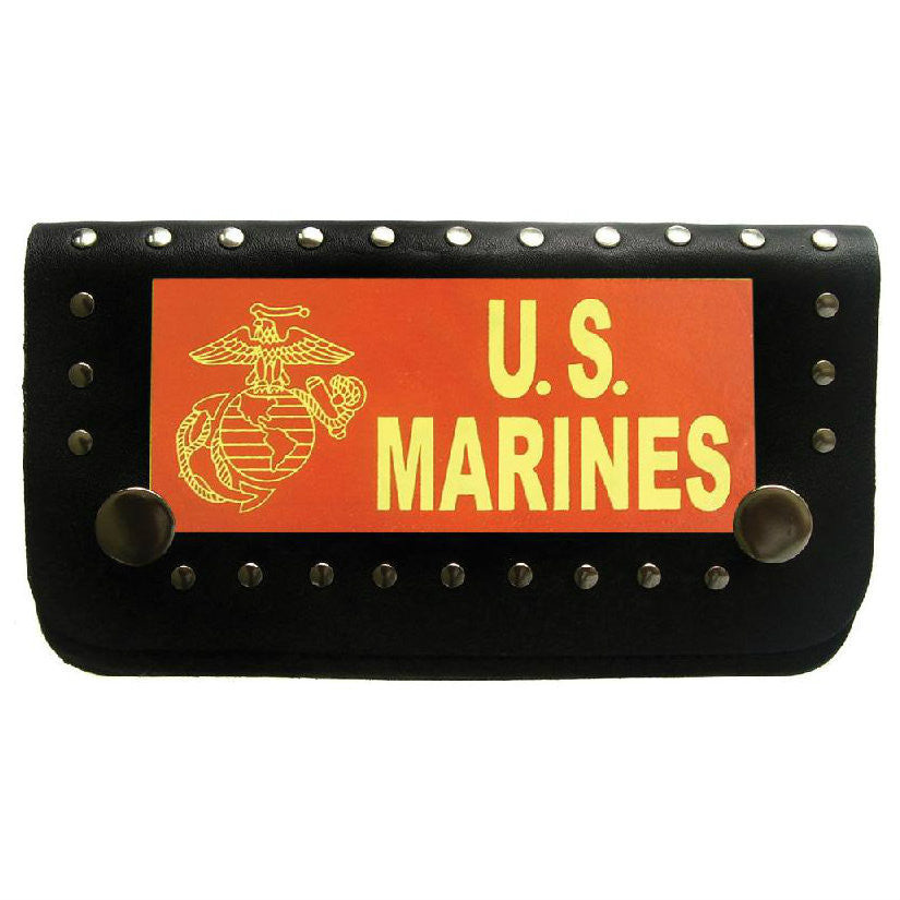Marines Biker Wallet With Chain