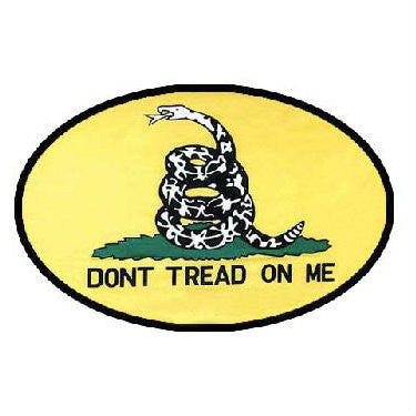 Don't Tread On Me Yellow Belt Buckle