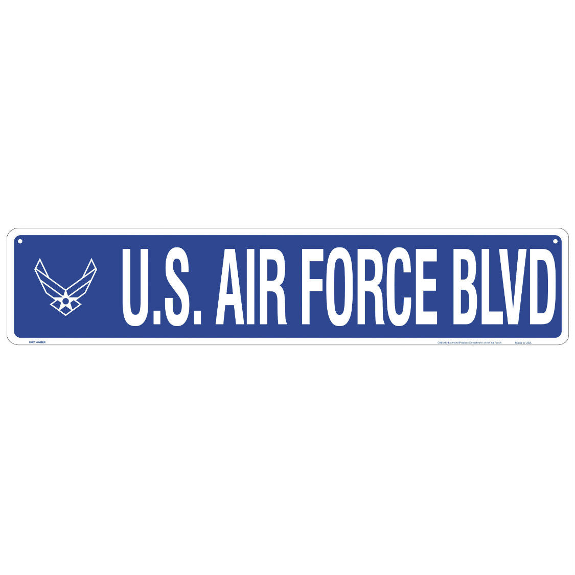 Air Force Blvd Metal Street Sign