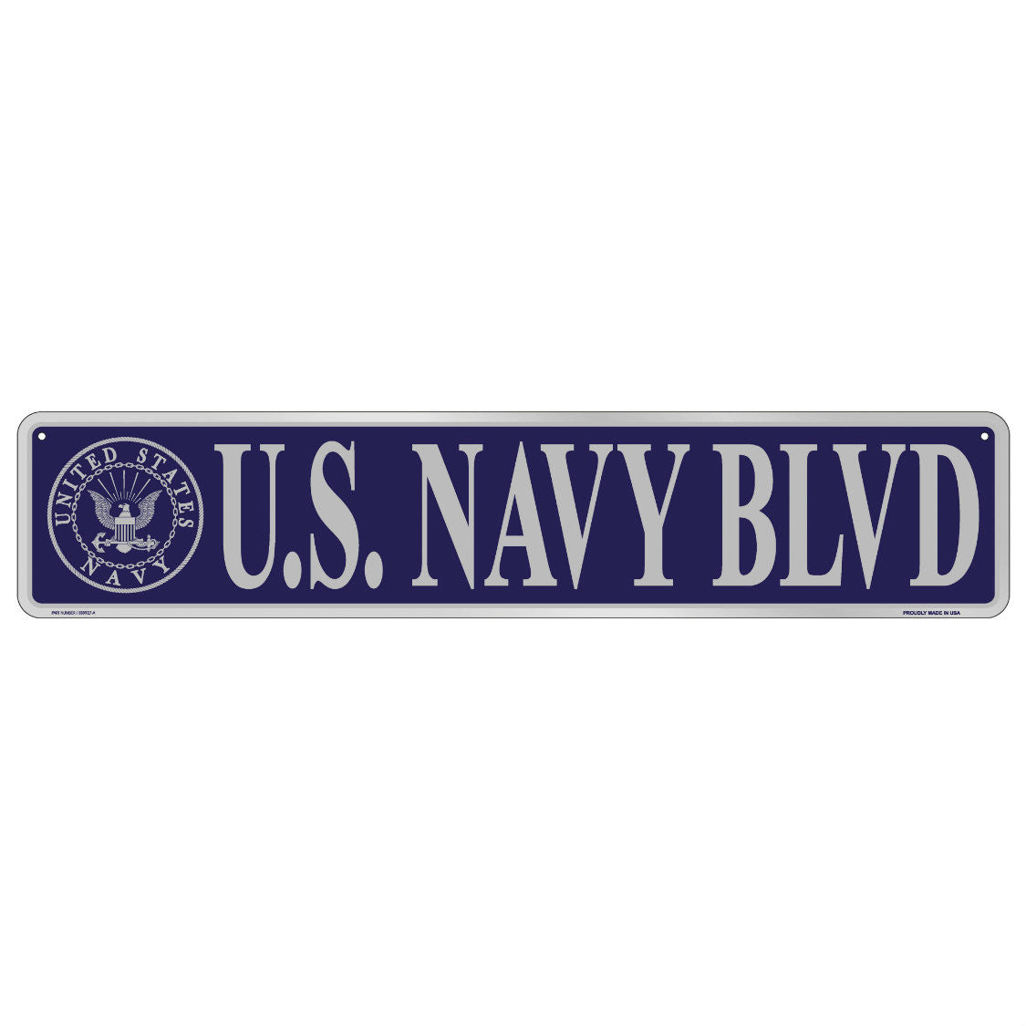 Navy Blvd Metal Street Sign - Indy Army Navy