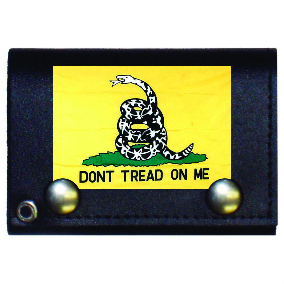 Yellow Don't Tread On Me Tri Fold Wallet