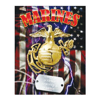 US Marines With Dog Tag Tin Sign