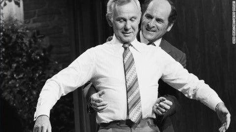 Dr. Henry Heimlich Shows Johnny Carson How to Perform the Heimlich Maneuver