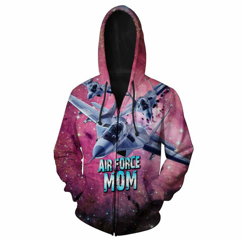 Air Force Mom All Over Print Hoodie