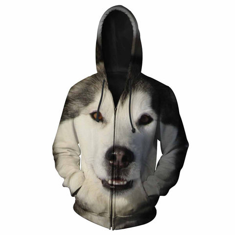 Alaskan Malamute Eyes All Over Print Hoodie