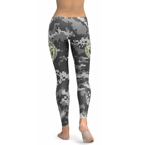 Army Mom All Over Print Leggings