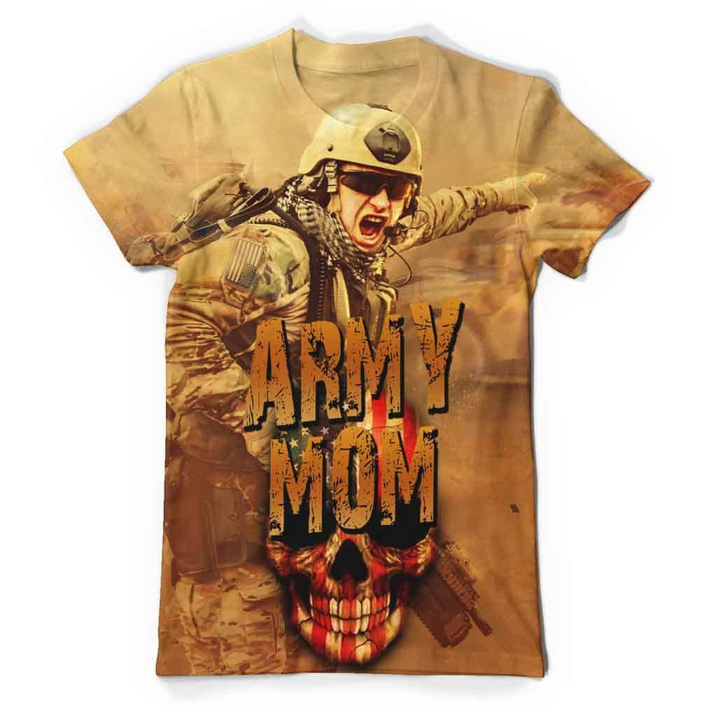 Army Mom All Over Print T-Shirt