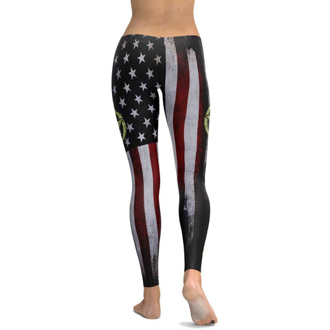 Army Veteran All Over Print Leggings