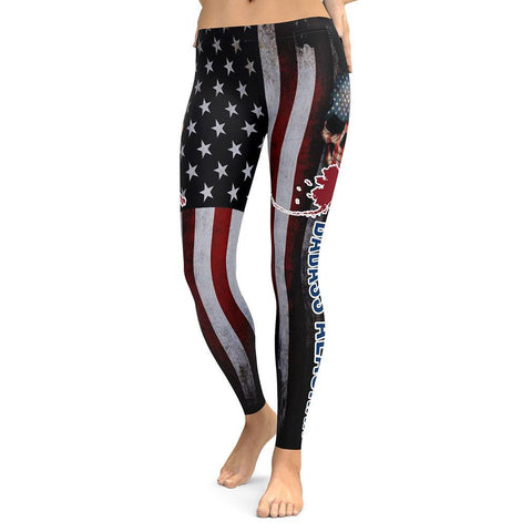 Badass Alaskan All Over Print Leggings