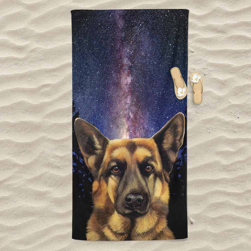 German Shepherd All Over Print Beach Towel