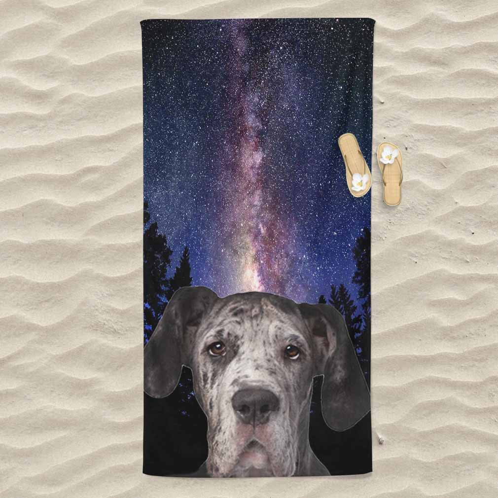 Great Dane All Over Print Beach Towel