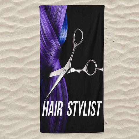 Hair Stylist All Over Print Beach Towel