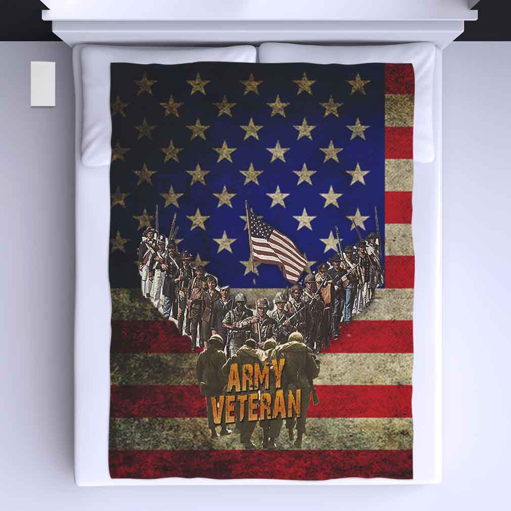 Army Veteran All Over Print Blanket