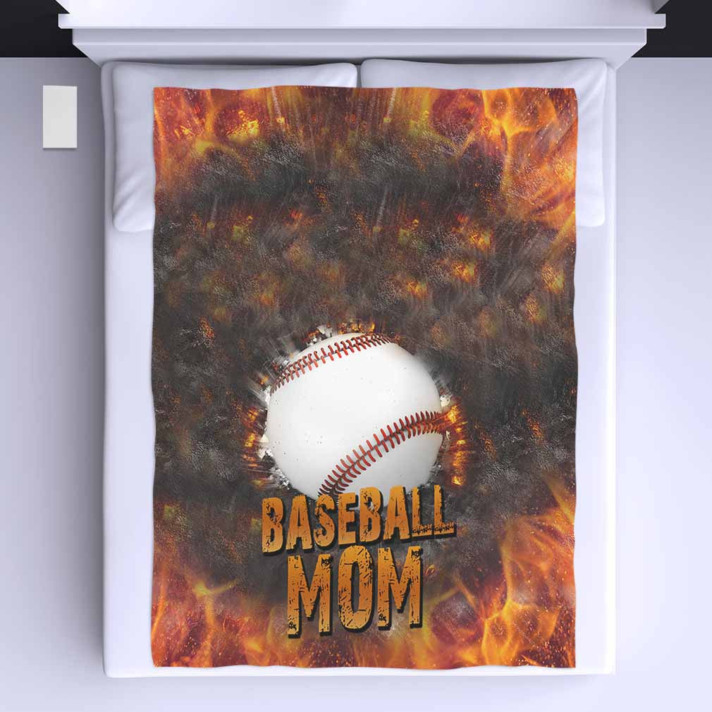 Baseball Mom All Over Print Blanket