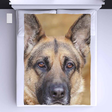 German Shepherd Eyes All Over Print Blanket