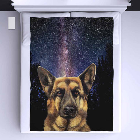 German Shepherd All Over Print Blanket