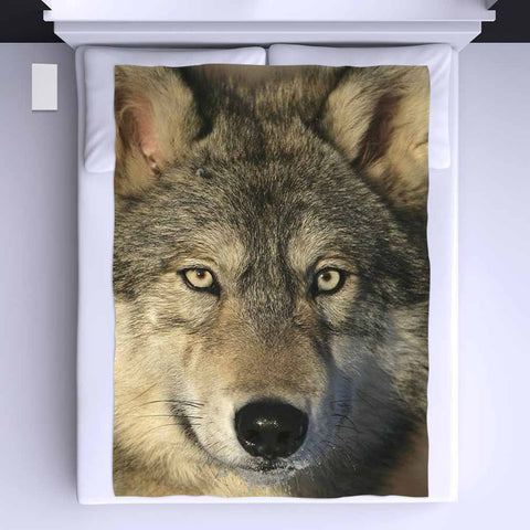 Wolf Eyes All Over Print Blanket