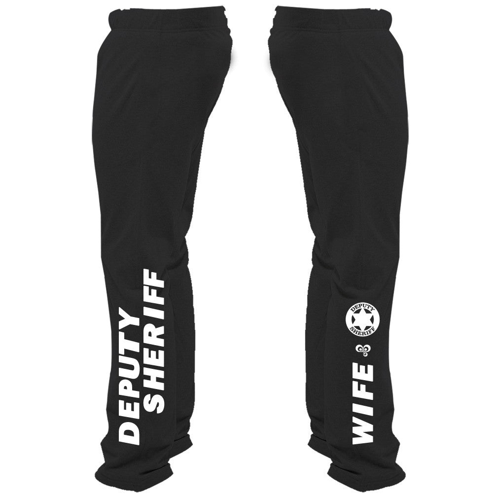 Deputy Sheriff Wife Sweatpants(6-Point Star) - Butterfly Trade